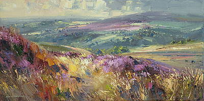British Artist Rex PRESTON - Moorland View, Derbyshire