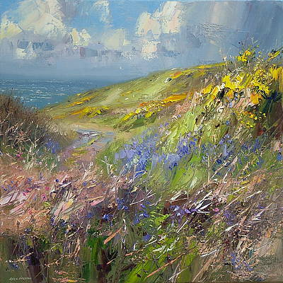 British Artist Rex PRESTON - Coastal Path, West Cornwall