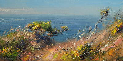 British Artist Rex PRESTON - Clear Spring Day, Cornwall
