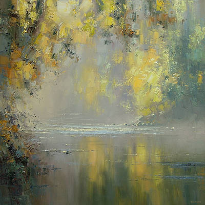Rex PRESTON - Autumn Reflections, River Derwent