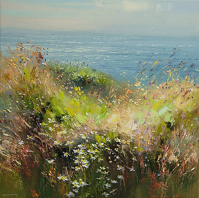 British Artist Rex PRESTON - Summer Flowers, Cornwall
