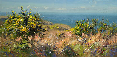 British Artist Rex PRESTON - Spring Morning, Cornwall