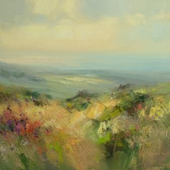 Rex PRESTON - The Atlantic from Trevelgan Hill near St Ives