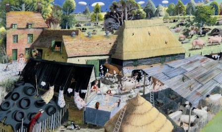 British Artist Richard Adams - Farm Girl's Bath