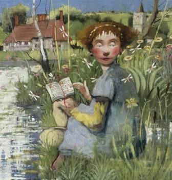 British Artist Richard Adams - On The Bank