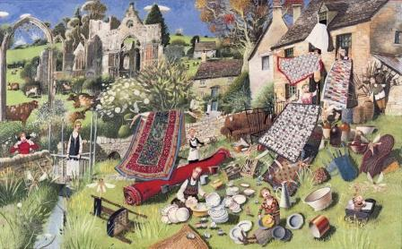 British Artist Richard Adams - Spring Clean
