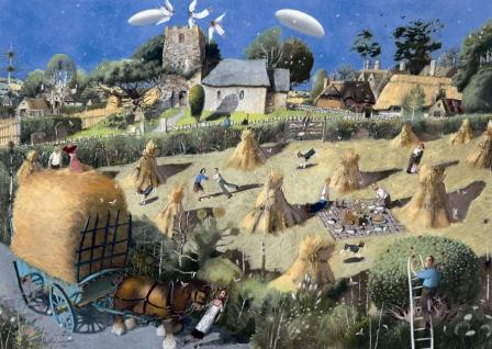 British Artist Richard Adams - The Summer Wore On