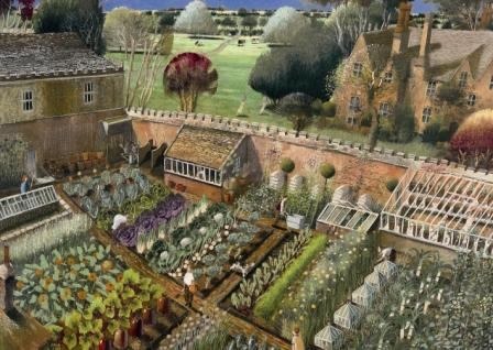 British Artist Richard Adams - The Vegetable Garden