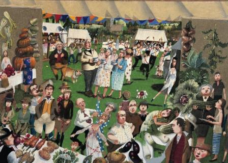 British Artist Richard Adams - The Vegetable Tent