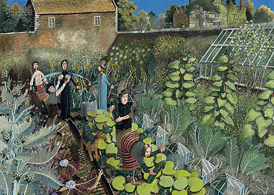 British Artist Richard Adams - The Kitchen Garden