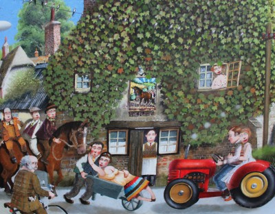 British Artist Richard ADAMS - Opening Time