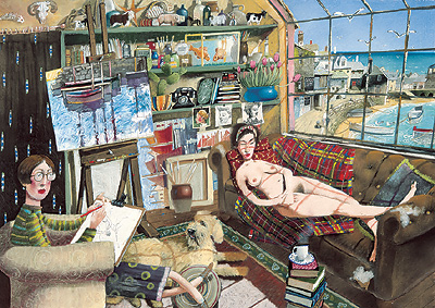 British Artist Richard Adams - The Artist's Model
