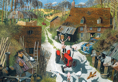 British Artist Richard Adams - The Farmer's Wife
