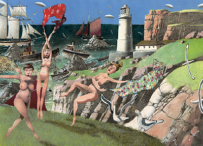 British Artist Richard Adams - The Lighthouse Keeper's Daughters