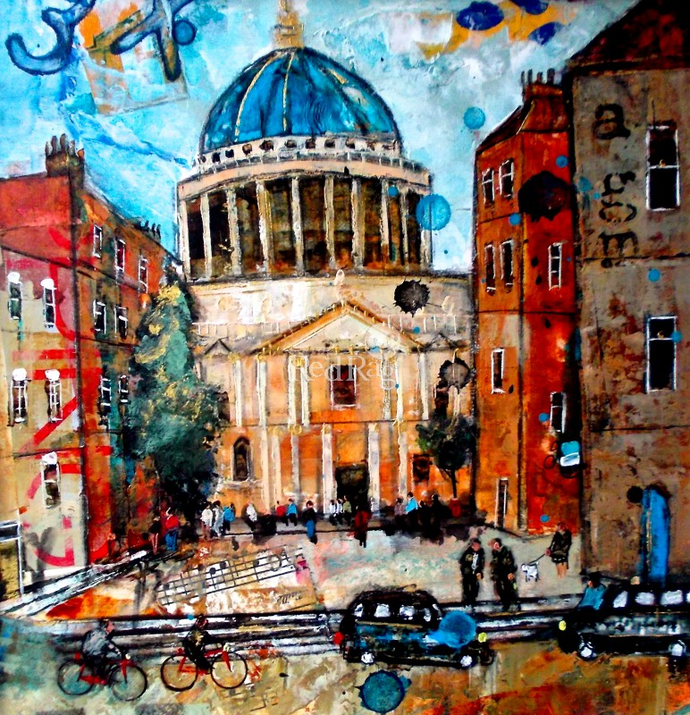 Contemporary Art Calendar Uk : St paul s cathedral london by british contemporary artist