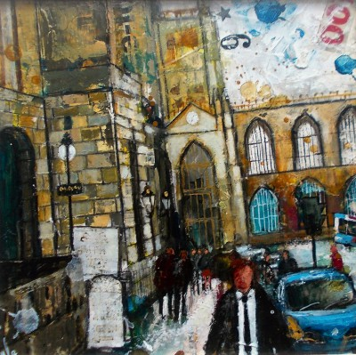 British Artist Richard BUREL - Bath Abbey