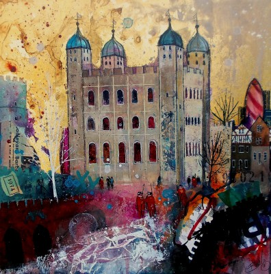 British Artist Richard BUREL - White Towers, London