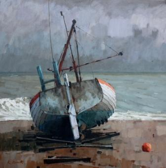 British Artist Richard DACK - Aldeburgh Beach