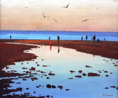 British Artist Richard DACK - Evening at Sandsend