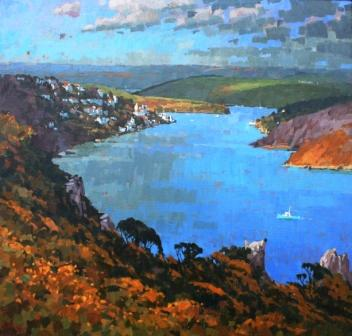 British Artist Richard DACK - Salcombe Estuary Evening