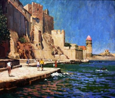 British Artist Richard DACK - Waterfront at Collioure