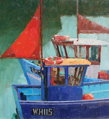 British Artist Richard DACK - The Red Sail
