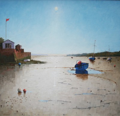 British Artist Richard DACK - The Exe Estuary at Topsham