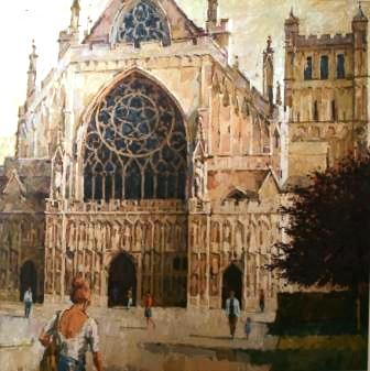 British Artist Richard DACK - Exeter Cathedral