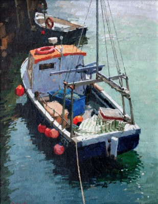 British Artist Richard DACK - Alongside at Mousehole