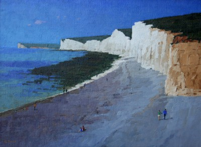 British Artist Richard DACK - The Seven Sisters from Birling Gap