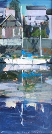 Richard PIKESLEY - Yacht Reflected Morlaix