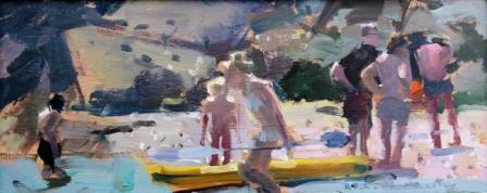 British Artist Richard PIKESLEY - Yellow Canoe