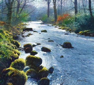 British Artist Richard THORN - Silver River