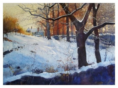 British Artist Richard THORN - Winter Scene