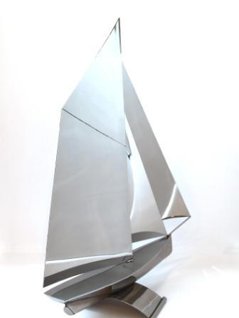 British Artist Richard VASEY - Gaff Rigged Boat