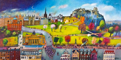 Limited Edition Prints Artist Rob Hain - Pipers on Parade