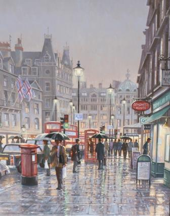Robert CRISP - Haymarket at Dusk
