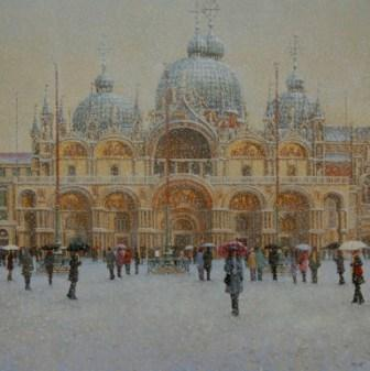 British Artist Robert CRISP - Winter in Venice
