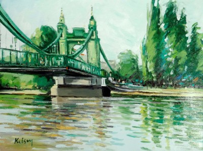 Robert KELSEY, contemporary artist - The Thames at Hammersmith