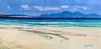 'Beach Patterns, Iona' painting