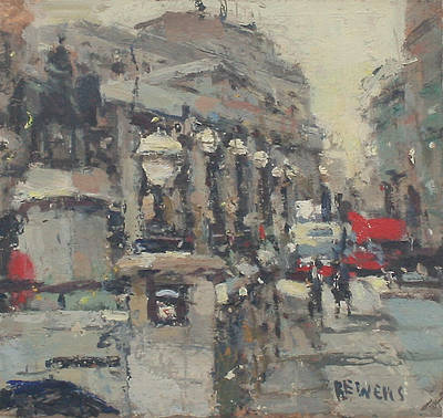 British Artist Robert E WELLS - Mansion House, London