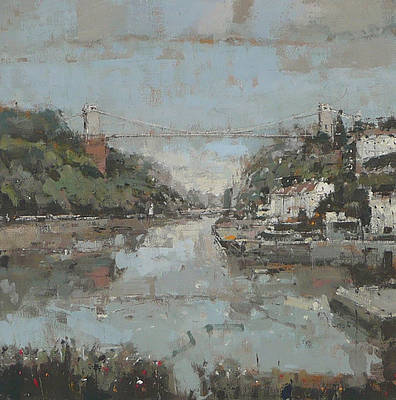 British Artist Robert E WELLS - Clifton Suspension Bridge
