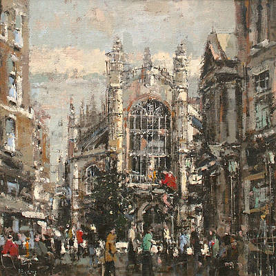 British Artist Robert E WELLS - Bath Abbey