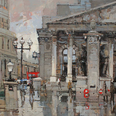 British Artist Robert E WELLS - Royal Exchange