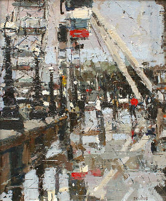British Artist Robert E WELLS - London Eye II