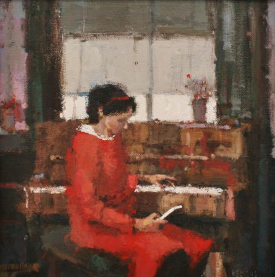 Texting painting by artist Robert E WELLS