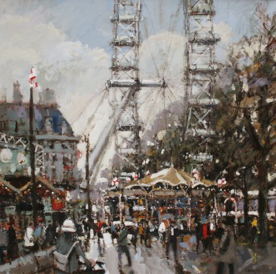 British Artist Robert E WELLS - Carousel