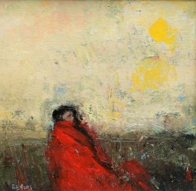 Robert E WELLS - Red Blanket Seated
