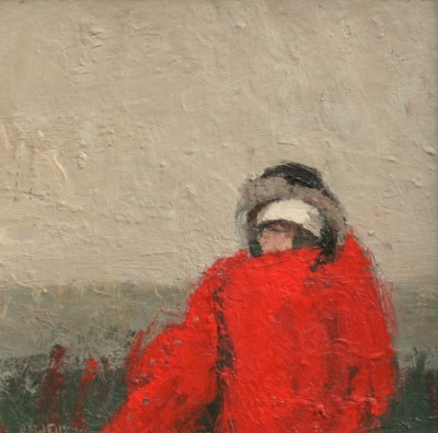 Girl with Blanket  painting by artist Robert E WELLS