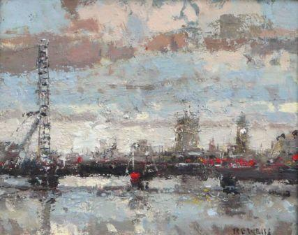 British Artist Robert E WELLS - The London Eye